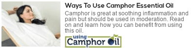 how to use camphor essential oil
